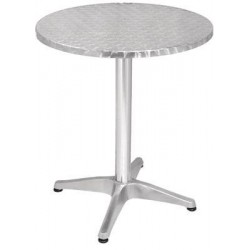 Table bistro ronde en inox